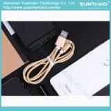 Carga rápida del cable trenzado de nylon del USB para el iPhone