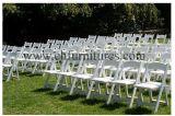 Blanc de la résine plastique noir ou marron Wimbledon pliage de l'événement Gladiator Président pour mariage (YC-P50)