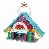 6739380-New Swan Stone Castle Diamond Building Block brinquedo educacional