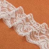 Testo fisso nuziale di cucito decorativo del merletto del poliestere all'ingrosso per il vestito da cerimonia nuziale