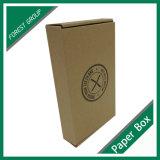 Het 100% Gerecycleerde Bruine Vakje van het Document van Kraftpapier met de Druk en het Tussenvoegsel van het Embleem