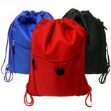 個人化された昇進210dのナイロン体操のドローストリングのバックパックのドローストリング袋
