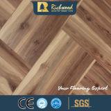 12.3mm HDF AC4のカシのチークの材木のWaxe3dによって研がれる積層の木製のフロアーリング