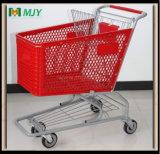 Chariot à carreaux de 125 litres en plastique Mjy-125cp