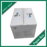 백색 물결 모양 주문 로고 화물 박스