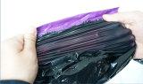 Bolso plástico del poste del color púrpura de encargo de la talla