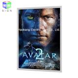cadre léger d'affiche de film 27X40 avec le bâti contre éclairé annonçant l'étalage