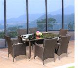 Mobilia di bambù stabilita moderna del vimine del rattan della presidenza della Tabella del giardino