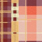 100%Polyester il plaid arancione Pigment&Disperse ha stampato il tessuto per l'insieme dell'assestamento