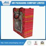 Handgemachte gerader Winkel-steife Papierkasten-Fabrik mit Griff-Geschenk-Kasten
