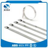 Bridas estabilizado al calor de hebilla de metal abrazaderas de cable
