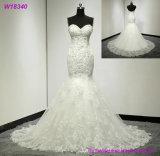 Trägerlose Braut-Abnützung gekräuselte Hochzeits-Kleid-Brautkleider