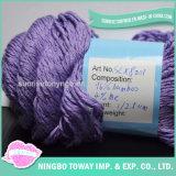 50g de tricotar máquina de mistura de fantasia de bambu de seda fios naturais