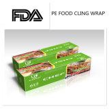 L'empaquetage antibrouillard de PE transparent s'attachent film d'enveloppe pour l'enveloppe de nourriture