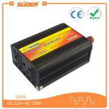 CC 12V di prezzi di fabbrica di Suoer 500W all'invertitore di energia solare dell'invertitore di CA 220V (SKA-500A)