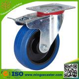 160mm blaue Gummirad-Fußrolle mit ISO