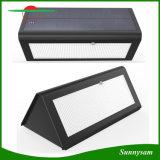 Luz de sensor de movimento solar, luz de segurança externa Luz solar 800lm Luz alimentada por energia solar, luz de segurança sem fio / luz de parede / luz noturna 4 modos de iluminação