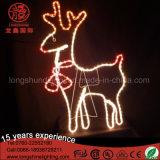 Lumière extérieure de décoration de Noël de motif de renne de DEL 2D pour la rue