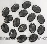 In het groot Ovaal naaien-op de Vlakke Achter Acryl AcrylParel van Bergkristallen (sW-Ovaal 10*14mm in kleuren)