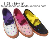 Bajos precios de última moda mujer patinan en los zapatos de lona de inyección