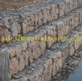 1X1X1, caixa de gabião gaiola de Pedra, galvanizado revestido de PVC/caixas de gabião Gabião Cestos/ Galfan Gabião Gaiola de pedra (fábrica direta)