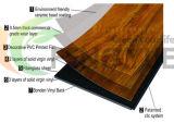 Plancher imperméable à l'eau de PVC de vinyle de type européen
