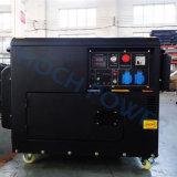 12 HPエンジンの発電機によって5.5kVAは車輪が付いている使用の携帯用ディーゼル発電機が家へ帰る