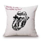 De Rolling Stones drukten Bank af werpen de Dekking van het Hoofdkussen zonder het Vullen (35C0060)