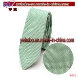 100% cravate en soie cravate tissée en toile à motifs en polyester (B8013)