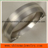 Anillo Titanium de la joyería de plata verdadera del embutido de la joyería de Shineme (TR1833)