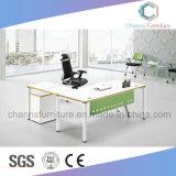 Escritorio de oficina de madera moderno del vector del ordenador de los muebles