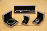 1 установленное кольцо ожерелья PU коробки подарка Jewellery пурпуровое кожаный