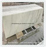 Bancada da cozinha do mármore do branco chinês para o edifício residencial