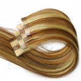 Armure droite de paquets de Remy de cheveu de prolonge de cheveu de bande dessinée par double sur le cheveu péruvien 20PCS blond d'adhésifs