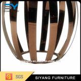 Table basse en verre de bâti d'acier inoxydable de meubles de jardin