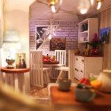 Het MiniatuurHuis van Doll van het Huis DIY Houten