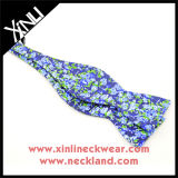 Venda por grosso de impressão personalizado feito à mão de Retenção Automática de seda pura laços para homens
