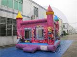Princesa Jumping Castle, castillo animoso inflable rosado