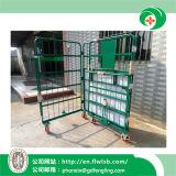 Kundenspezifische zusammenklappbare Stahlabfertigungs-Laufkatze für Lager-Speicher