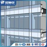 Perfil de aluminio de fábrica con polvo Pulverización para la pared de cortina de vidrio