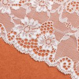 El más nuevo diseño verde de oro hilo de bordar tela suiza del cordón de la gasa para el vestido