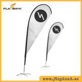 3.4m Publicité Aluminium Impression Digitale Bannière Teardrop / Flying Banner