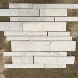 Azulejos de mosaico de mármol blancos de Carrara de la mejor calidad para la cocina Backsplash y el cuarto de baño