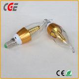 Ce RoHS 3W E14 Fuego velas LED de luz de lámpara iluminación lámparas LED Lámparas LED de iluminación LED