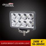 24W 4 pouces - lumière tous terrains carrée de travail de la haute énergie 4X4 DEL