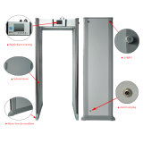 Caminhada ajustável da sensibilidade de 7 zonas da tela 24 do LCD da polegada através do detetor de metais