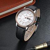 De Mens Wristwatch72250 van de Luxe van de Riem van het Leer van de Mensen van de Horloges van het Roestvrij staal van het kwarts
