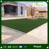 Mirada natural que ajardina la hierba artificial