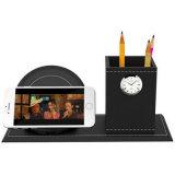 Stylo Vase Porte-crayons Papeterie Bureau Récipient Tidy Presse-cadeau Chargeur rapide sans fil