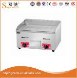 Equipo de cocina de plancha Gas parrilla de hierro fundido Grill con gabinete